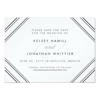 Modern Elegance Optional Back Photo Save the Date 11 Cm X 16 Cm Invitation Card