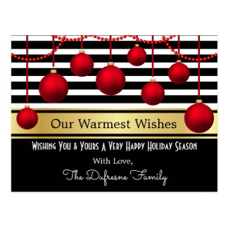 Modern Elegance Personalized Christmas Postcard