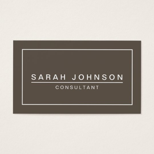 Modern Elegance Taupe Grey Business Card
