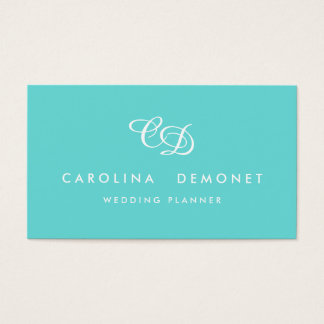 Modern Elegance Tiffany Blue Business Card