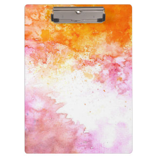 Modern Elegant Abstract watercolor hand painted Clipboard