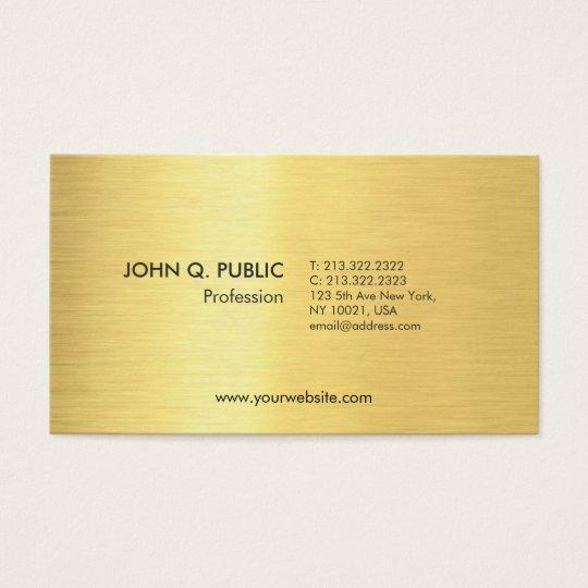 Modern Elegant Black Gold Look Simple Plain Business