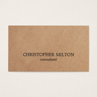 Modern Elegant Black White Kraft Paper Consultant Business Card