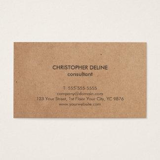 Modern Elegant Brown Kraft Paper Consultant