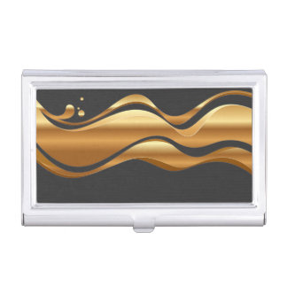 Modern Elegant Chic Faux Gold Case For Business Cards