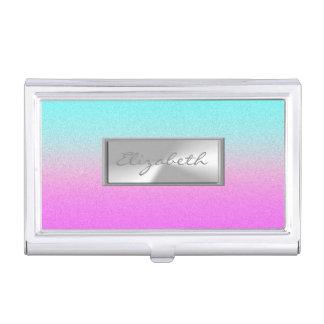 Modern Elegant Chic Girly  Glittery Business Card Holder