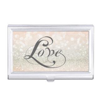 Modern Elegant Chic Glittery-Love Business Card Holder