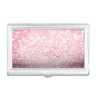 Modern Elegant Chic Glittery-Red Business Card Holder