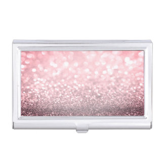 Modern Elegant Chic Glittery-Red Case For Business Cards