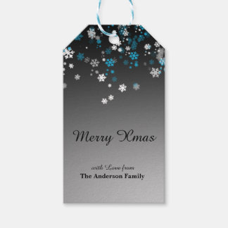 Modern Elegant Christmas with Snowflakes Gift Tags
