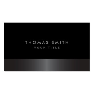Modern elegant classy dark gray and black profile pack of standard business cards