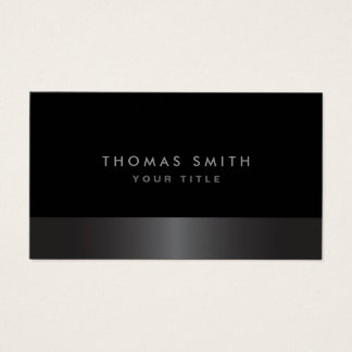 Modern elegant classy dark gray and black profile business card