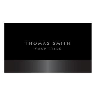 Modern elegant classy dark grey and black profile business card