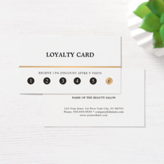 Modern Elegant Clean Faux Gold Line Loyalty Card