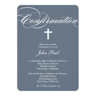 Modern Elegant Cross Confirmation Invitation