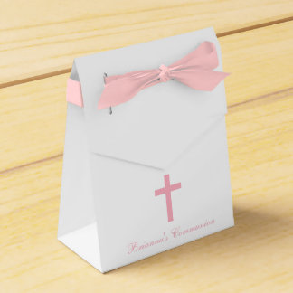 Modern Elegant Cross First Holy Communion Favor Favour Boxes