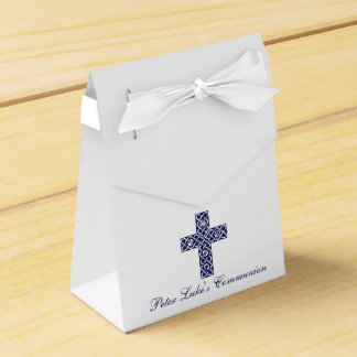 Modern Elegant Cross First Holy Communion Favor Wedding Favour Boxes