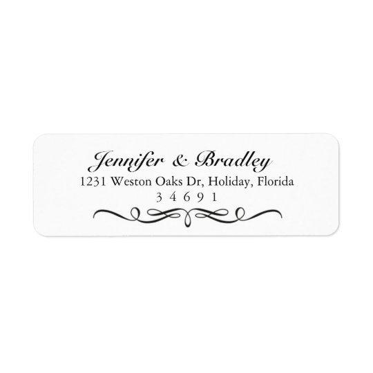 Modern Elegant Custom Return Address Labels