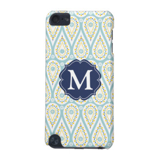 Modern Elegant Damask Blue Paisley Personalized iPod Touch 5G Case