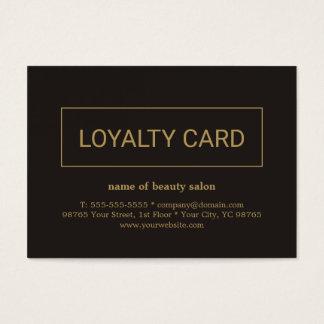 Modern Elegant Dark faux Gold Loyalty Card