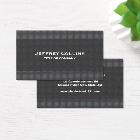 Modern elegant dark grey texture professional business card