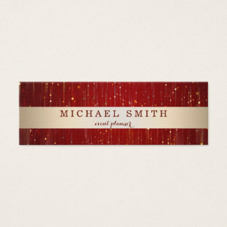Modern Elegant Decorative Faux Gold Striped Mini Business Card