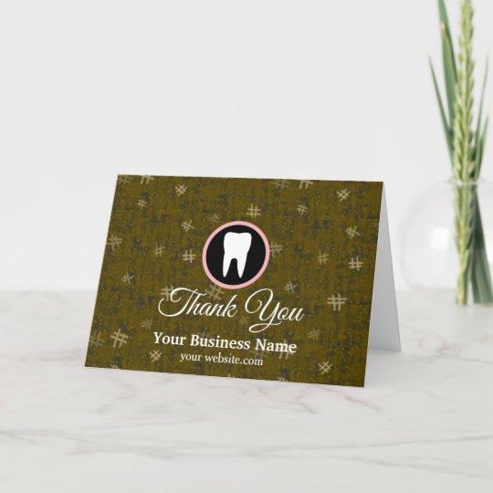 modern elegant dentist rose gold dental office thank you