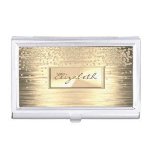 Girly business card holders cases zazzle modern elegant girly faux golddiamonds business card holder colourmoves