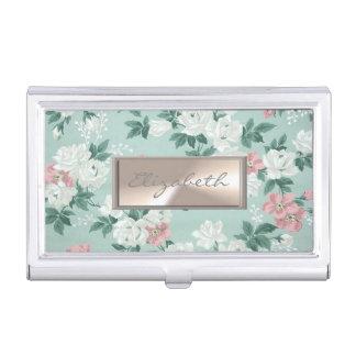 Modern Elegant  Girly ,Flowers Business Card Holder