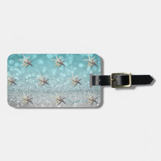 Modern Elegant Girly,  Glittery,Bokeh ,Starfish Luggage Tag