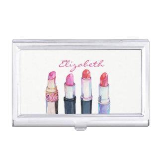 Modern Elegant  Girly ,Lipsticks Business Card Holder