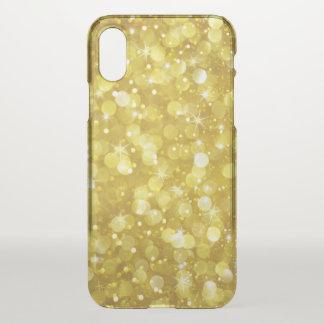 Modern Elegant Gold Bokeh Glitter iPhone X Case