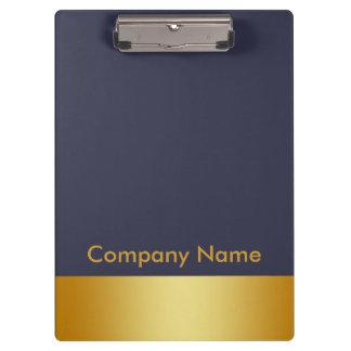 Modern Elegant Gold Faux Foil Company Logo Clipboards