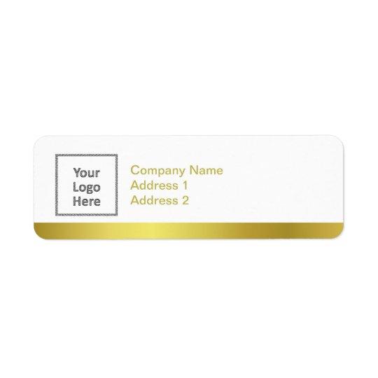 Modern Elegant Gold Foil Custom Business Logo