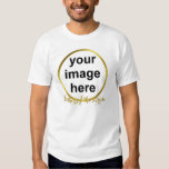Modern Elegant Gold Foil FATHER OF THE BRIDE Photo T-shirts