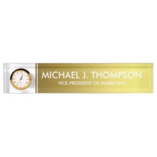 Modern Elegant Gold Foil Monogrammed Name Plate