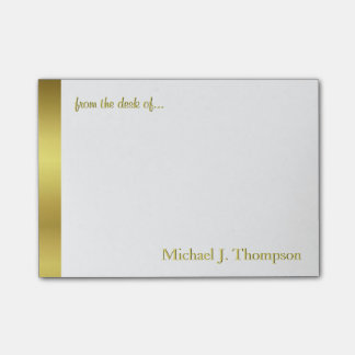 Modern Elegant Gold Foil Post-it® Notes