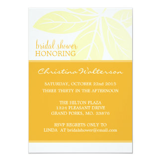 Modern Elegant Golden Glow Bridal Shower 13 Cm X 18 Cm Invitation Card