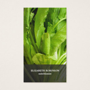 Nutritionist business cards business card printing zazzle uk modern elegant green leaves nutritionist business card reheart Image collections