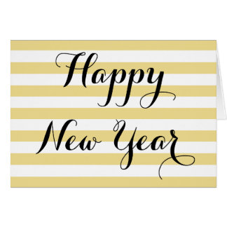 Modern Elegant Happy New Year Faux Gold Custom DIY Card