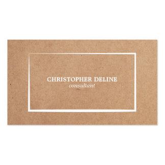 Modern Elegant Kraft Paper White Consultant Pack Of Standard Business Cards
