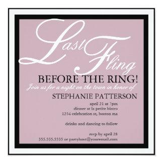 Modern & Elegant Last Fling Bachelorette Party Invites