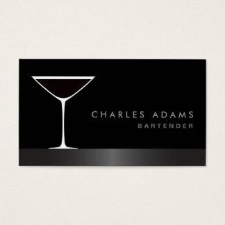 Modern elegant martini cocktail glass bartender