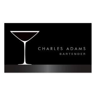 Modern elegant martini cocktail glass bartender pack of standard business cards