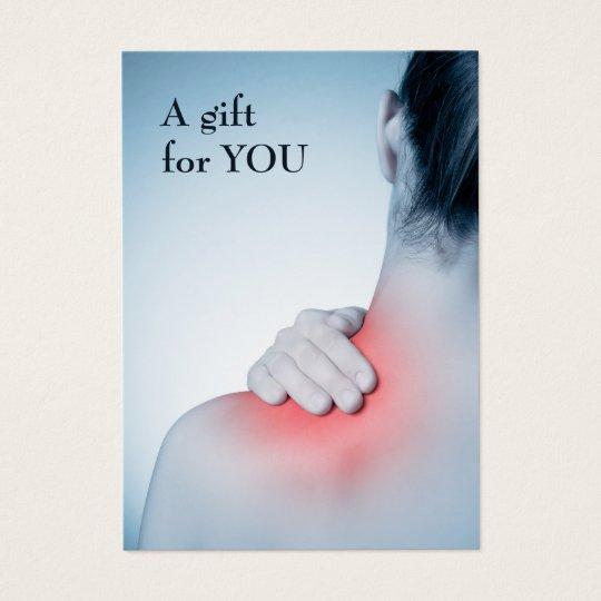 Modern Elegant Massage Therapist Gift Certificate