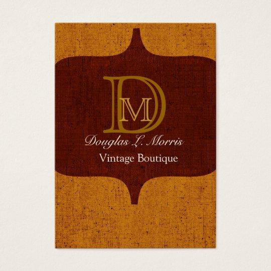 Modern Elegant Monogram Vintage Business Card