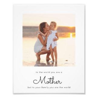 Modern Elegant Mother Saying Photo Print
