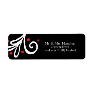 Modern Elegant Newlywed Christmas Return Address Label