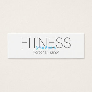 Modern Elegant Personal Fitness Trainer Mini Business Card