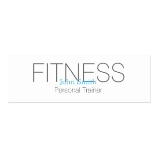 Modern Elegant Personal Fitness Trainer Pack Of Skinny Business Cards